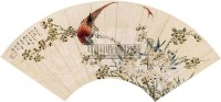 花鸟 扇面 纸本 - 颜伯龙 - 扇面小品 - 2010秋季艺术品拍卖会 -收藏网