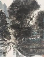 山水江南水乡 立轴 设色纸本 - 陈维信 - 中国书画(二) - 2006春季拍卖会 -收藏网