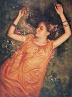 梦 布面 油画     - 邸立丰 - 中国油画 - 第54期书画精品拍卖会 -收藏网
