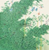 """熏风 镜片 设色纸本 - 周彦生 - 中国书画 - 2010""""清花岁月""""冬季大型艺术品拍卖会 -收藏网"""