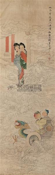 献寿图 立轴 绢本 - 5938 - 文物公司旧藏暨海外回流 - 2010秋季艺术品拍卖会 -收藏网
