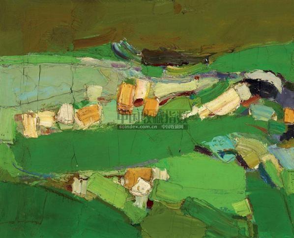 风景 布面油画 -  - 中国油画  - 2010年秋季艺术品拍卖会 -收藏网