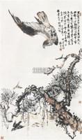 松鹰图 立轴 设色纸本 - 116759 - 中国书画(一) - 2006春季拍卖会 -收藏网