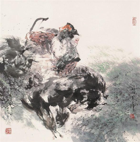 人物 镜心 设色纸本 - 117502 - 书画专场 - 2006年第2期精品拍卖会 -中国收藏网