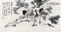 松鹤图 镜片 纸本 - 颜梅华 - 中国书画(下) - 2010瑞秋艺术品拍卖会 -收藏网