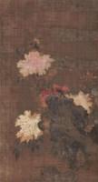 花卉 (一件) 立轴 绢本 -  - 字画下午专场  - 2010年秋季大型艺术品拍卖会 -收藏网