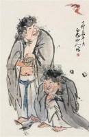 人物 立轴 纸本 - 王震 - 中国书画(下) - 2010瑞秋艺术品拍卖会 -收藏网