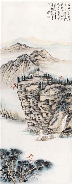 仿石溪山水 立轴 纸本 - 116070 - 中国书画 - 2010年秋季书画专场拍卖会 -收藏网