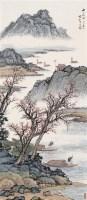 秋江帆影 立轴 设色纸本 - 134104 - 名家书画·油画专场 - 2006夏季书画艺术品拍卖会 -收藏网