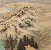 山水 立轴 设色纸本 - 何海霞 - 中国书画 - 2010年秋季艺术品拍卖会 -收藏网