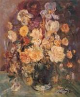 瓶花 布面  油画 - 张自正 - 华人西画 - 2006年度大型经典艺术品拍卖会 -收藏网
