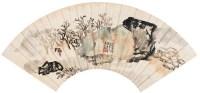 江乡渔归 扇片 设色纸本 - 116682 - 名家书画·油画专场 - 2006夏季书画艺术品拍卖会 -收藏网