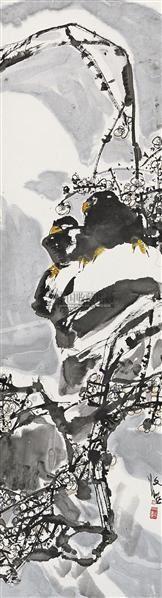 花鸟 立轴 设色纸本 - 118346 - 中国书画 - 2010秋季艺术品拍卖会 -收藏网