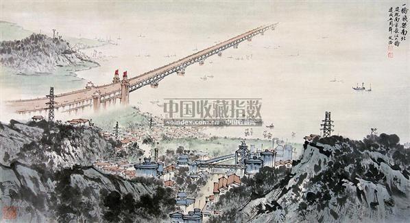 山水 镜片 纸本 - 5002 - 中国书画(下) - 2010瑞秋艺术品拍卖会 -收藏网