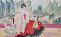 人物 纸本 镜框 - 王美芳 - 中国书画(二)无底价专场 - 天目迎春 -收藏网