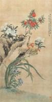 花卉 立轴 设色绢本 - 汤世澍 - 中国书画 - 第9期中国艺术品拍卖会 -收藏网