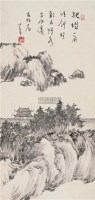 孤城一角 镜片 水墨纸本 - 溥儒 - 中国书画(二) - 2010年秋季艺术品拍卖会 -收藏网