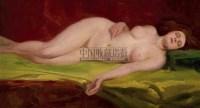 横卧的女人体 布面油画 -  - 中国油画  - 2010年秋季艺术品拍卖会 -收藏网