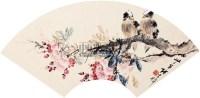 花鸟 扇面 纸本 - 张书旂 - 扇面小品 - 2010秋季艺术品拍卖会 -收藏网