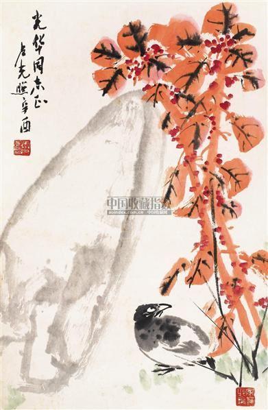 花鸟 立轴 设色纸本 - 137281 - 中国书画(一) - 2006春季拍卖会 -收藏网