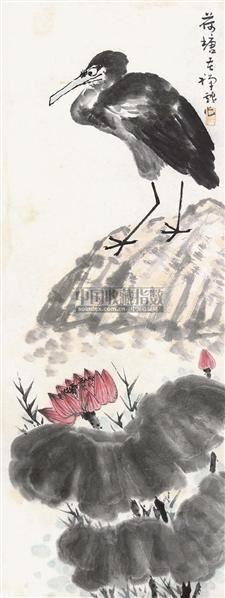 荷塘 立轴 纸本 - 139807 - 中国书画 - 2010年秋季书画专场拍卖会 -收藏网