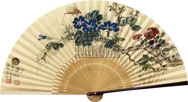 花卉 成扇 纸本 - 131055 - 扇面小品 - 2010秋季艺术品拍卖会 -收藏网