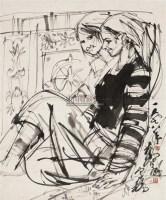 人物画稿 镜片 水墨纸本 - 7693 - 中国书画 - 2010秋季艺术品拍卖会 -收藏网