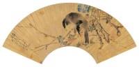 沙  馥(1831~1906)  花鸟 -  - 中国书画金笺扇面 - 2005年首届大型拍卖会 -收藏网
