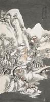 汪  琨(1877~1946)  寒山赏雪 -  - 中国书画海上画派作品 - 2005年首届大型拍卖会 -中国收藏网
