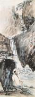 高士 立轴 设色纸本 - 黑伯龙 - 中国书画 - 第9期中国艺术品拍卖会 -收藏网