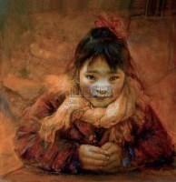 小妹 油彩 画布 -  - 油画专场  - 2010秋季艺术品拍卖会 -收藏网