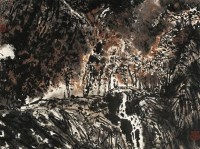 秋色 镜心 设色纸本 - 朱道平 - 中国书画 - 2010年秋季拍卖会 -收藏网