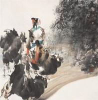 沙漠风情 镜心 设色纸本 - 胡正伟 - 中国书画(二) - 2006春季拍卖会 -中国收藏网