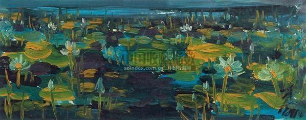 荷花 (一件) 板面 - 116036 - 字画下午专场  - 2010年秋季大型艺术品拍卖会 -收藏网