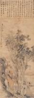高士洗桐 立轴 设色纸本 - 沙馥 - 名家书画·油画专场 - 2006夏季书画艺术品拍卖会 -中国收藏网