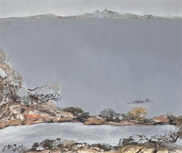 洪凌 太湖风光 布面油画 - 133228 - (西画)当代艺术专题 - 2006年秋季精品拍卖会 -收藏网
