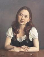 庞茂琨 少女像 布面油画 - 庞茂琨 - (西画)当代艺术专题 - 2006年秋季精品拍卖会 -收藏网