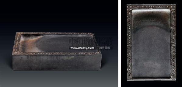夔龙纹端砚 -  - 文房清玩 历代名砚及案上雅玩专场 - 2008年秋季艺术品拍卖会 -中国收藏网