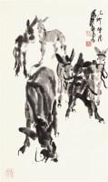 黄胄 毛驴图 - 7693 - 中国书画  - 上海青莲阁第一百四十五届书画专场拍卖会 -收藏网