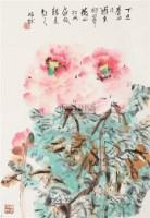 牡丹 立轴 设色纸本 - 10403 - 中国书画(二) - 2006春季拍卖会 -收藏网