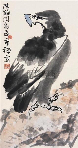鹰图 立轴 纸本 - 139807 - 中国书画(下) - 2010瑞秋艺术品拍卖会 -收藏网