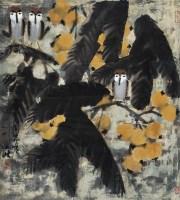 枇杷小鸟 镜心 设色纸本 - 王乃壮 - 中国书画 - 2010年秋季拍卖会 -收藏网