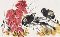 花鸟 镜片 纸本 - 李苦禅 - 中国书画(下) - 2010瑞秋艺术品拍卖会 -中国收藏网