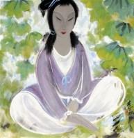 林风眠 少女 - 116036 - 中国书画  - 上海青莲阁第一百四十五届书画专场拍卖会 -收藏网