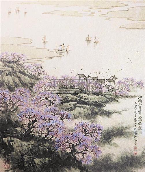 山水 镜心 设色纸本 - 5002 - 中国书画 - 2006秋季书画艺术品拍卖会 -中国收藏网