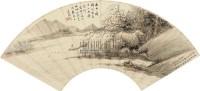 扁舟归处 立轴 设色纸本 - 吴榖祥 - 中国书画(一) - 2010年秋季艺术品拍卖会 -收藏网