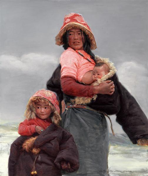 石渠母子 - 12408 - 油画 - 2010年秋季拍卖会 -收藏网