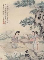 陈小翠中元闲情图 轴 设色纸本 - 陈小翠 - 中国近现代书画 - 2006艺术品拍卖会 -收藏网