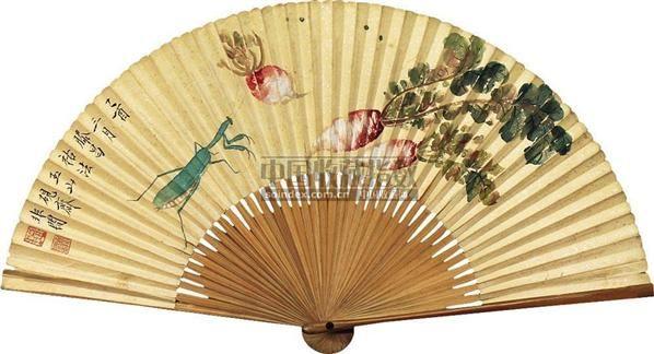 秋趣 成扇 纸本 - 116800 - 扇面小品 - 2010秋季艺术品拍卖会 -收藏网