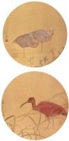 花鸟 (两帧) 镜心 设色日本纸 - 江宏伟 - 中国书画 - 第54期书画精品拍卖会 -收藏网